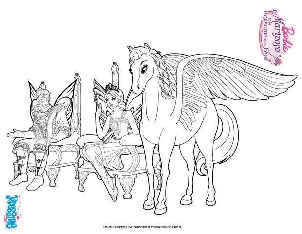 coloriage barbie sylvie le roi et la princesse de shimmervale - Coloriage Barbie Cheval