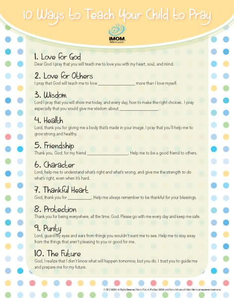 10 Ways to Teach Your Child to Pray