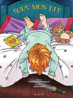 3199700095700 Sous mon lit. À la manière d'une comptine rythmée par les rimes, on présente ce qui se cache sous le lit d'un petit garçon. On invite ensuite le lecteur à décrire ce qu'il y a sous son lit. -- D'amusants esquisses animalières illustrent avec fantaisie cet album d'éveil sur la faune de l'Acadie. [SDM]