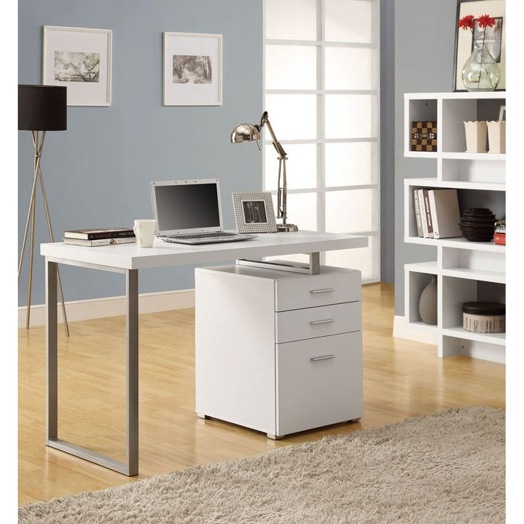 $280   Customize Your Workspace With This Hollow Core White Desk. The Desk  Comes
