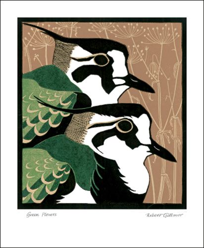 Green Plovers by Robert Gillmor