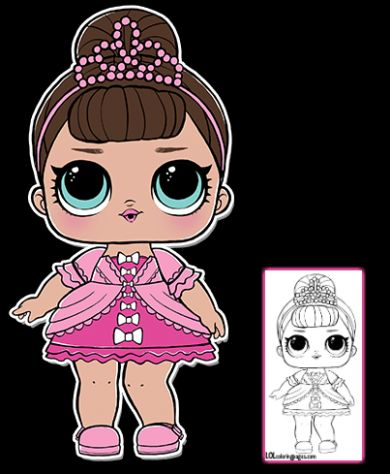 LOL Surprise Doll – Fancy Coloring Page – LOL Surprise … | coloring pages … – LOL Doll
