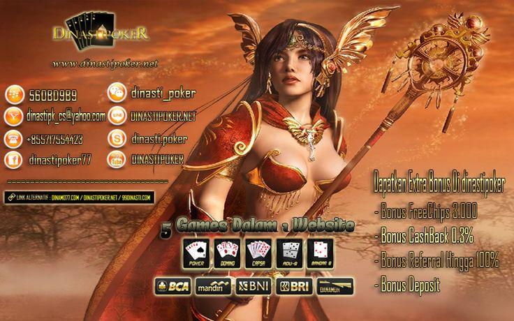 Salam pecinta poker online indonesia kami agen poker online uang asli indonesia  menyediakan 5 permainan dalam 1 website untuk  semua pecinta poker online  #PokerOnline #DominoQQ #BandarQ #CapsaSusun #AduQ nikmati kenyamanan bermain dan nikmati promo-promo dari dinastipoker.net