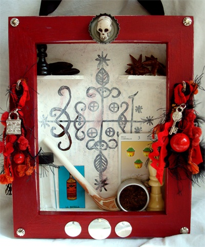 Hoodoo Magick Rootwork:  Papa Legba #Vodou #Shrine, by Knickertwist on Craftster.