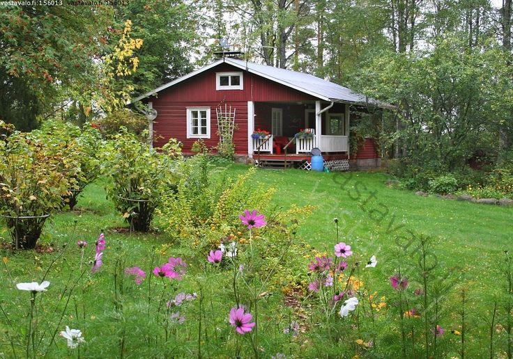 Kesämökki - mökki kesämökki kesäpaikka puutarha puutarhakukat marjapensas vapaa-aika loma lomailu mökkeily piha  elokuu  hirsimökki hirsita...