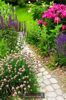 Садовые дорожки из природного камня, садовые дорожки из камня фото, идеи садовых дорожек из камня
