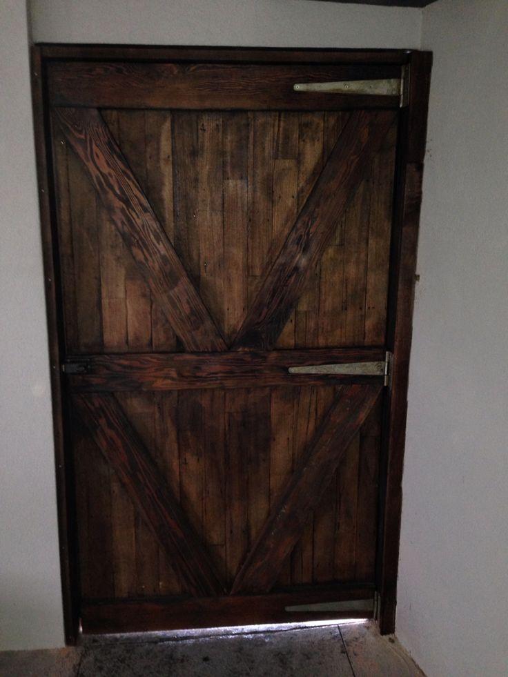 Barn door. 2.2m x 1.2 recycled floor boards