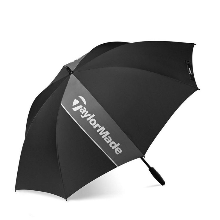 TaylorMade 60 Single Canopy Golf Umbrella (2015) - w/ Ergonomic sport grip handle - https://www.foremostgolf.com/taylormade-60-single-canopy-golf-umbrella-2015