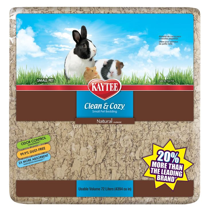 KAYTEE Clean and Cozy, Natural Small Pet Bedding size 72