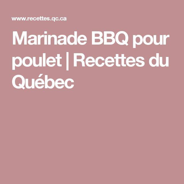Marinade BBQ pour poulet   Recettes du Québec