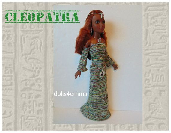 Tiffany Taylor Doll Clothes  CLEOPATRA Egyptian Gown by DOLLS4EMMA