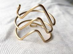 Triple Chevron Gold Wire Ring