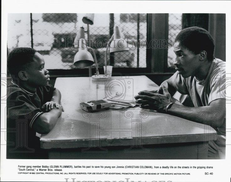 1992 Press Photo Actors Glenn Plummer and Christian Coleman in South Central