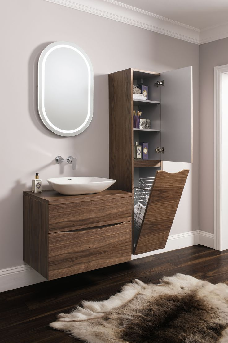 Glide Ii American Walnut Bathroom Furniture Range From Crosswater
