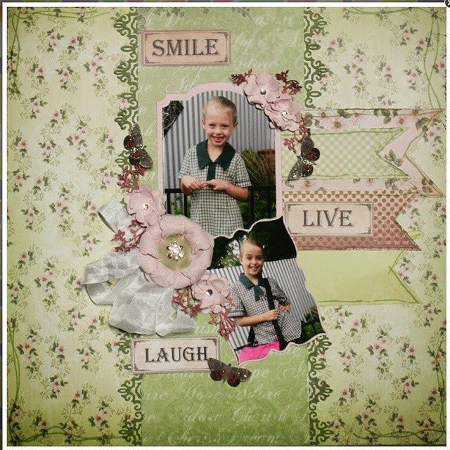 Couture Creations: Back to School Class with Tracey Cooley at Craft Giraffe   #couturecreationsaus #scrapbooking #classes #vintagerosegarden