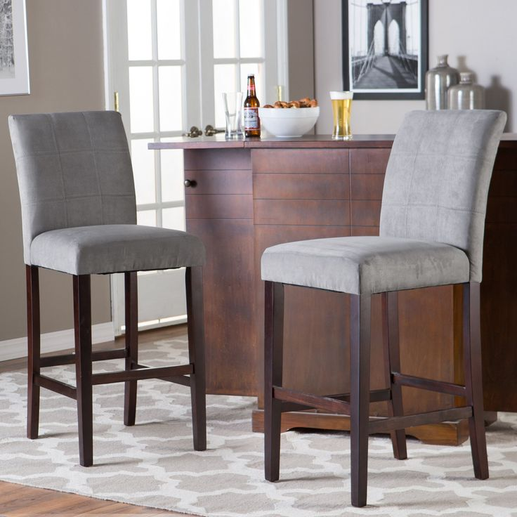 Have to have it. Palazzo Barstool - Grey - Set of 2 - $179.99 @hayneedle