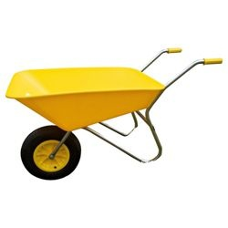 Time to get the garden ready for lazy summer days. We love this Threeway Bull Barrow Picador Plastic Wheelbarrow - Yellow from Tesco direct. £38