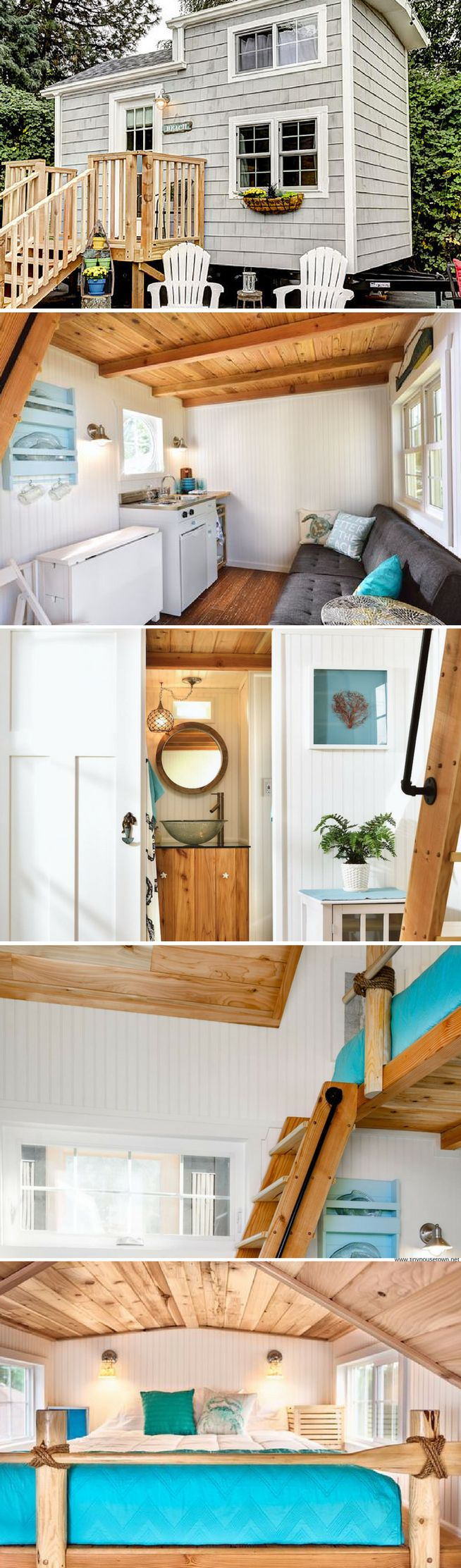 the beach tiny house at the tiny digs hotel in portland - Tiny House Interior Design Ideas