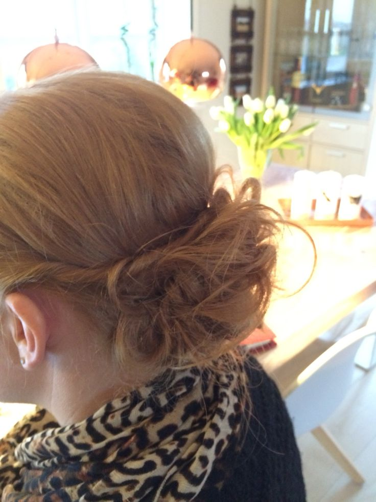 Quick Makeup For Wedding Party : A Quick updo before work, with some volume to it Styling ...
