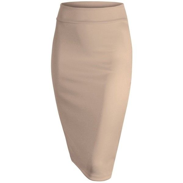 MBJ Womens Printed Pencil Skirt (23 CAD) ❤ liked on Polyvore featuring skirts, bottoms, knee length pencil skirt, brown pencil skirt, brown skirt and pencil skirt