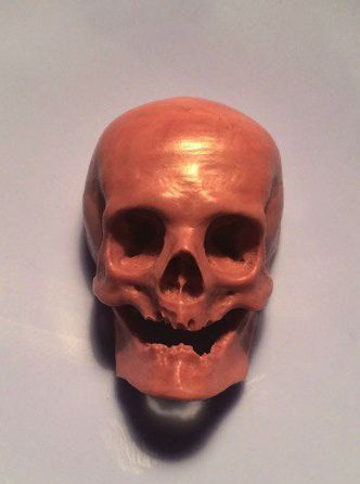 Wax carving, wax carving jewellry, human skull, realistic, wax sculpture, wax model, hand made.
