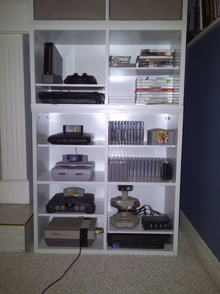 video game storage.. I'll probably be happy I repinned this one day