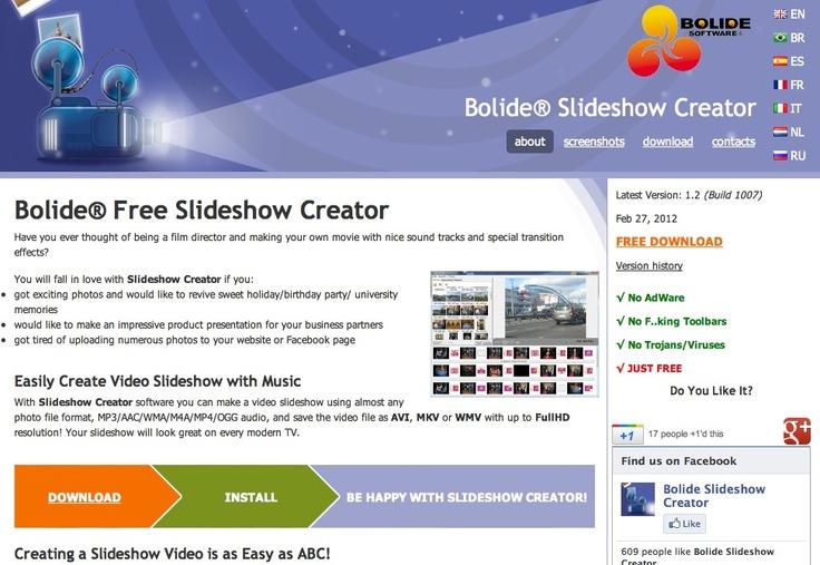 Freeware Slideshow Creator. Create MKV/AVI/WMV video slideshow with your photo
