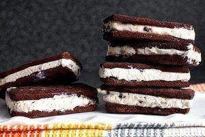 Шоколадный сэндвич с мороженым Ингредиенты Для печенья: Мука – 350 г Масло сливочное – 285 г Сахар – 200 г Какао – 75 г Яйца(желток) – 2 шт. Ванилин – 1 ст. л. Соль – ¾ ч. л. Для начинки: Мороженое – 1 кг. #мороженое #печенье #шоколадноепеченье #печеньесмороженым #сэндвичсмороженым #шоколадныйсендвич #шоколадныйсендвичсмороженым #вкусноемороженое #жарко #лето #рецепты #готовить