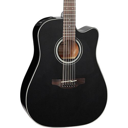 Takamine G Series GD30CE 12 Dreadnought String Acoustic Electric Guitar Black