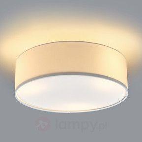 Lampa sufitowa SEBATIN z materiału, kremowa