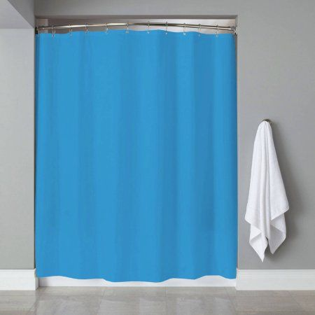 Shower Curtain Liner PVC Metal Grommets Magnets Neon, 70 inch x 72 inch, Blue