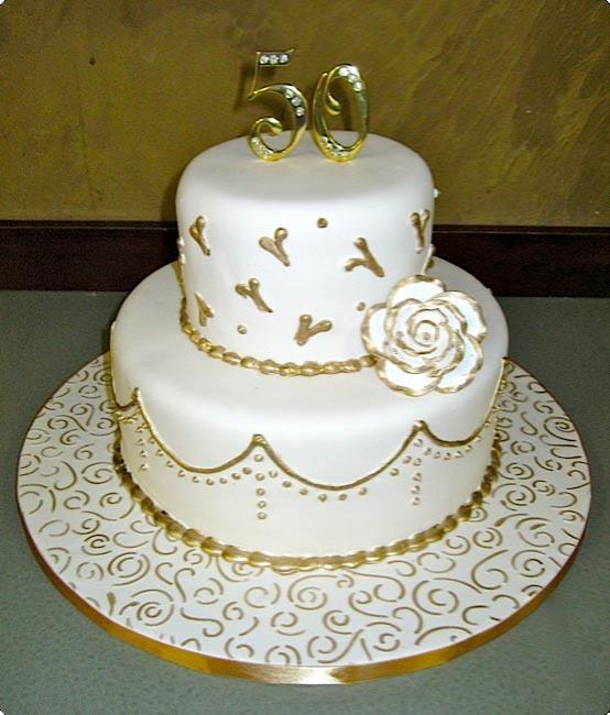 50ème anniversaire blanc et or