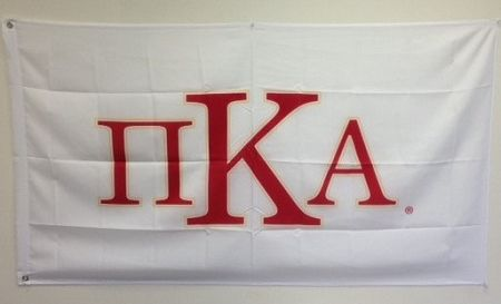 Brothers and Sisters' Greek Store - Pi Kappa Alpha PIKE Fraternity Flag-White , $19.95 (http://www.brothersandsistersgreekstore.com/pi-kappa-alpha-pike-fraternity-flag-white/)