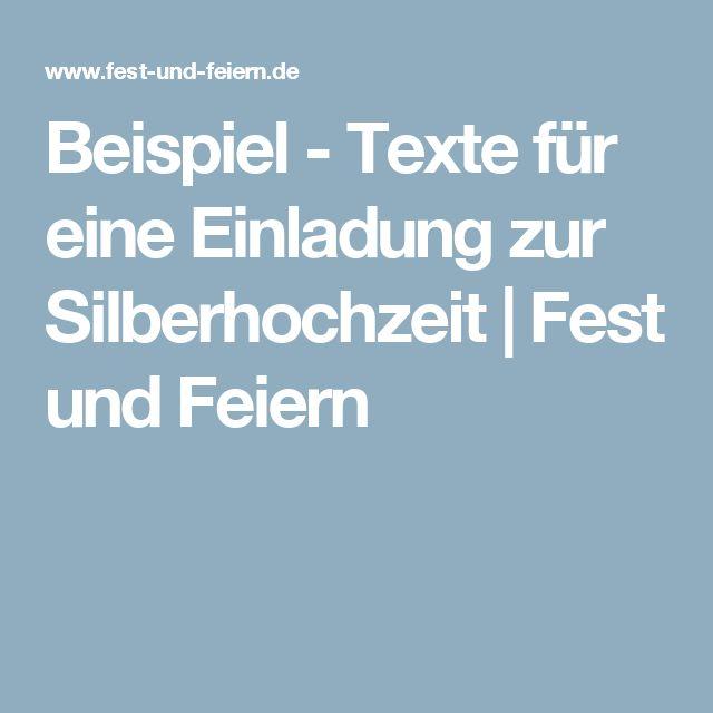 Beispiel   Texte Für Eine Einladung Zur Silberhochzeit | Fest Und Feiern