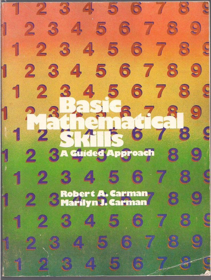 21 best ma4 math high school images on pinterest high school basic mathematical skills a guided approach math book workbook isbn 0471134953 ma4 fandeluxe Images