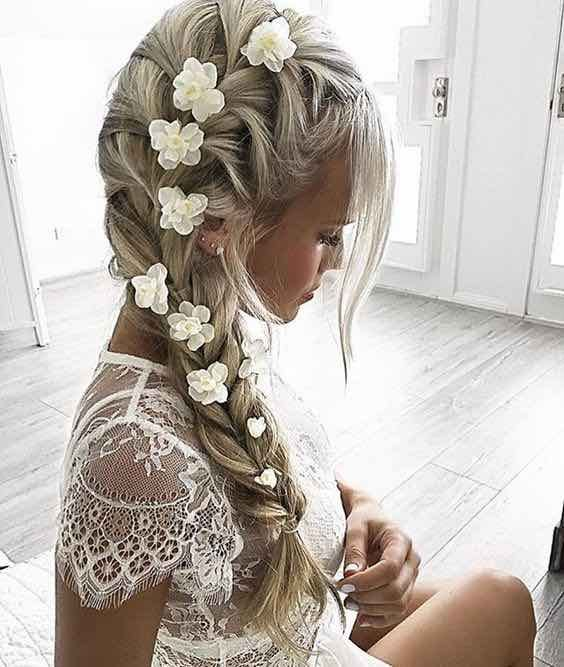Loose Beachy Effortless Bridal Hair Bridal Hair: 25+ Best Ideas About Bridal Braids On Pinterest