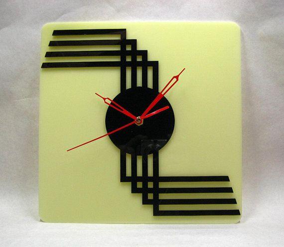Echo Of Deco Art Deco Inspired Ceramic Manhattan Wall Clock Art Deco Clock Clock Wall Clock