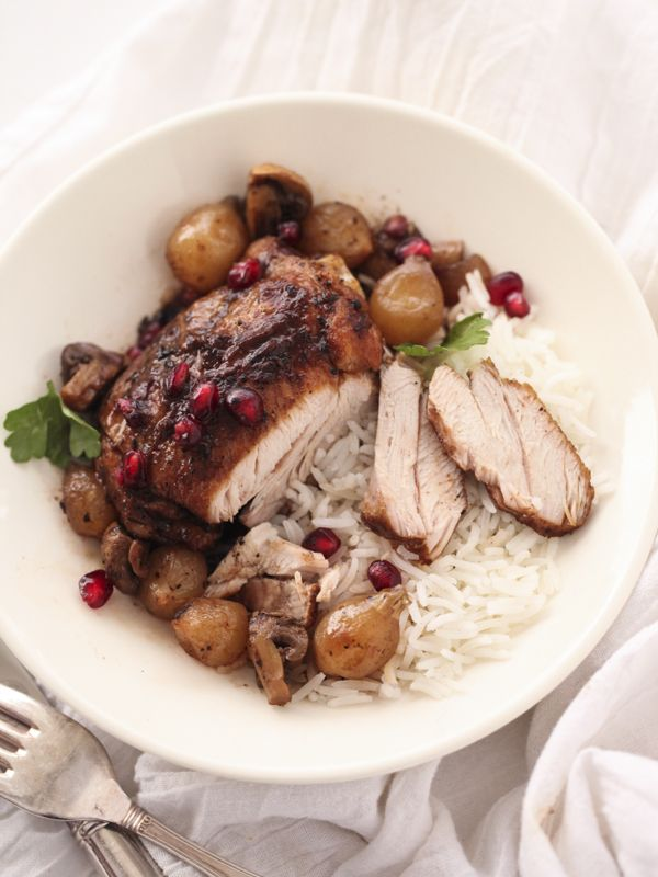 Slow Cooker Balsamic Chicken is an easy crockpot dinner for Christmas or anytime   FoodieCrush.com