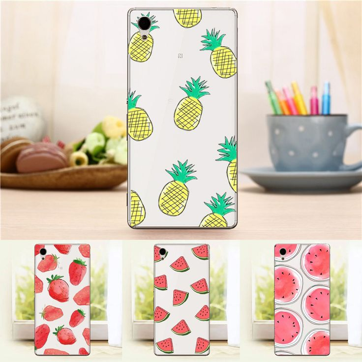 Transparent Fashion Fruit Case For Sony Xperia M4 Aqua Case 5.0inch Watermelon Srawberry Hard Back Cover-in Phone Bags & Cases from Phones & Telecommunications on Aliexpress.com | Alibaba Group
