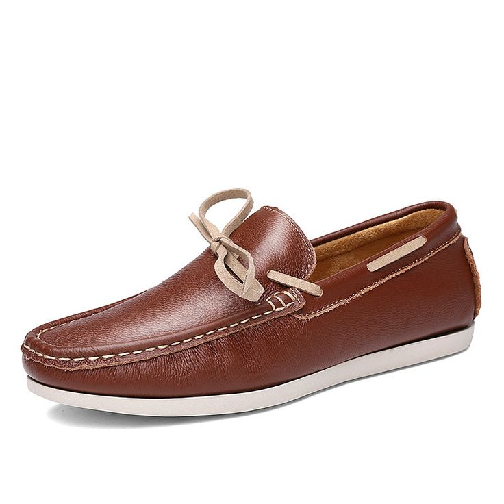 Corrente Masculino Popular Genuine Leather Moccasins Fashion Men Driving Loafer Shoes Size 38 to 43 Black