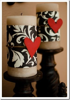Easy V-Day candles