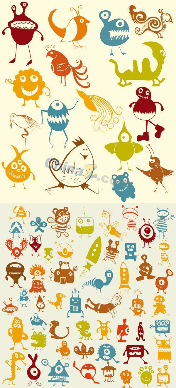 17 Terbaik Ide Tentang Doodle Monster Di Pinterest Coretan Seni