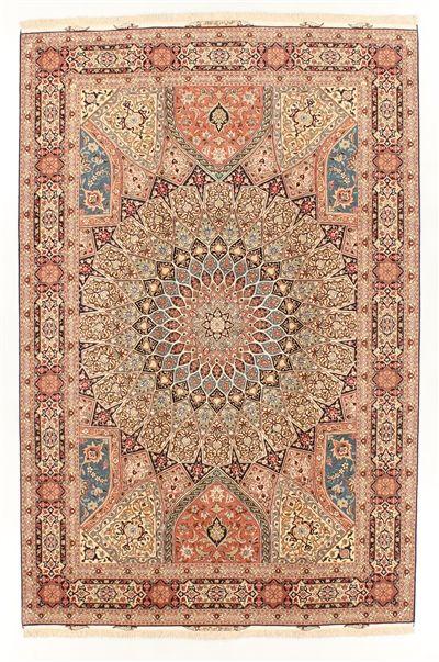 Tabriz Super Fine Silk Fringes  308 x 205 cm