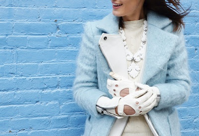 Baby BlueBaby Blue, Fashion Weeks, White Gloves, Street Style, Ny Fashion, Blue Bayou, Blue Coats, Feelings Blue