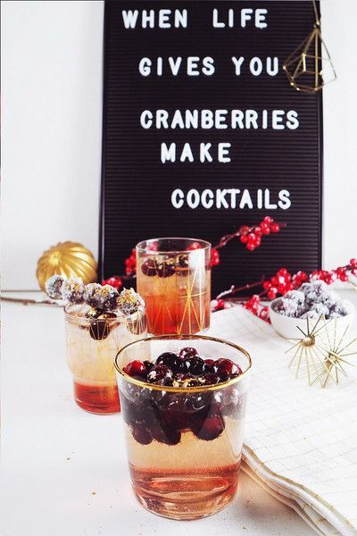 Best Cranberry Cocktails & Drinks Recipes (not only) for the Festive Season #cocktailrecipe #cocktails #drinks #cranberry #christmas #thanksgiving