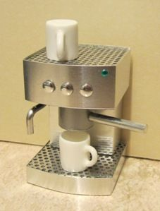 Doll House Miniatures | Playscale(1:6) Espresso maker | ELF Miniatures