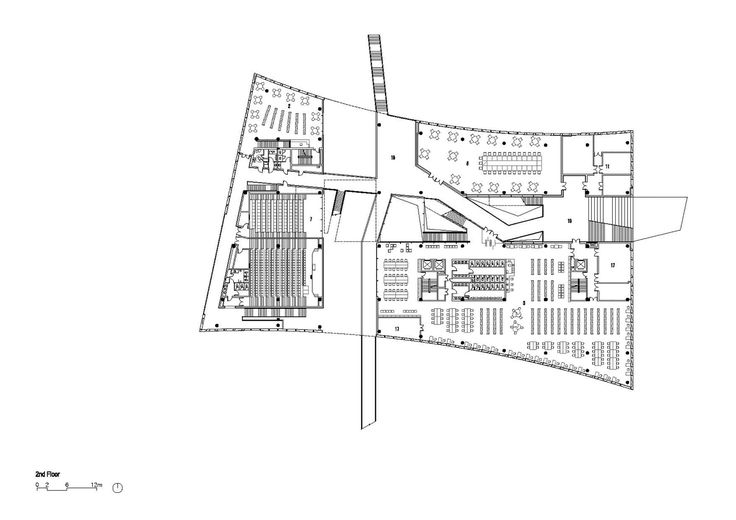 Library of South University of Science and Technology of China,Second Floor Plan