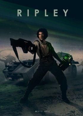 ellen ripley alien nostromo future space guns science fiction car legends aliens