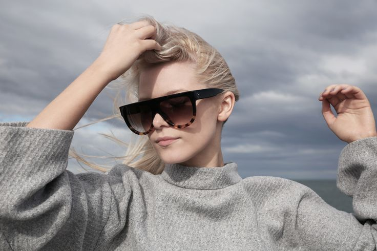celine black havana shadow glasses