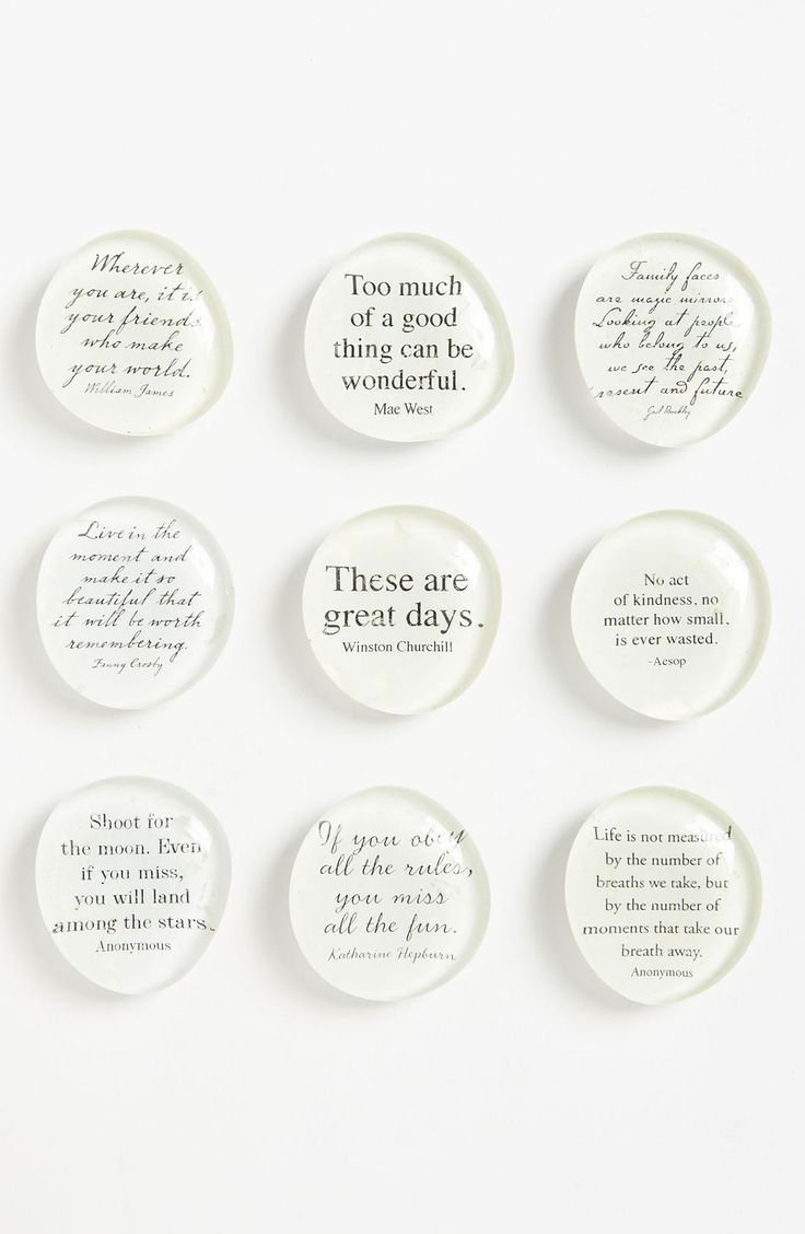 Ben's Garden 'Script Quote' Superstrong™ Magnets | Nordstrom                                                                                                                                                     More